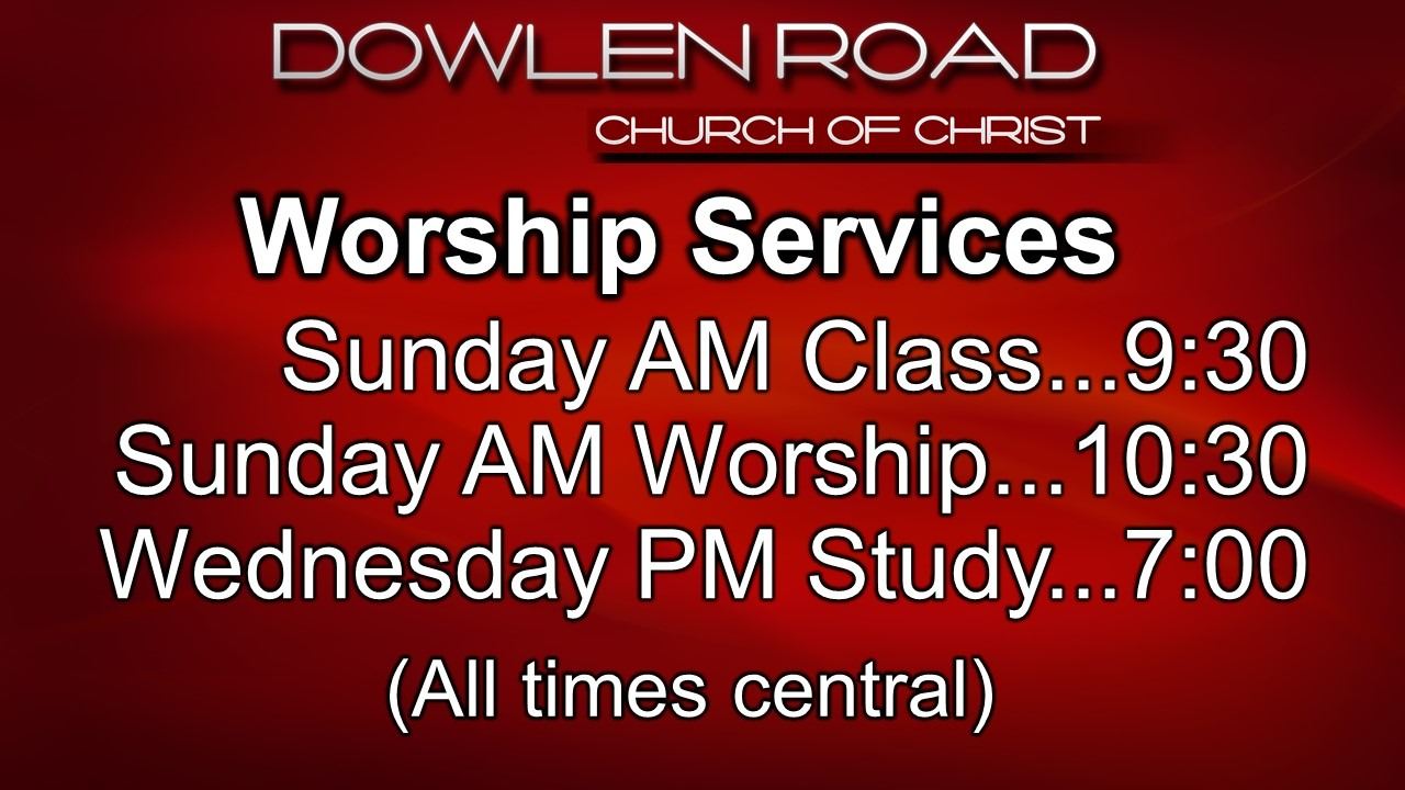 Worship Services schedule
