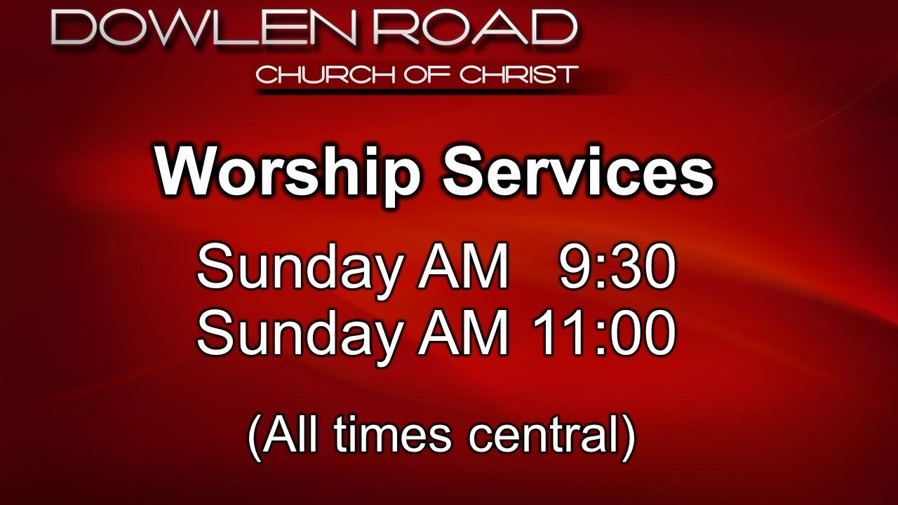 Worship Services schedule052420